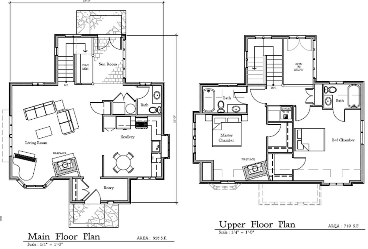 27 harmonious storybook floor plans house plans 29406 Cottage house floor plans
