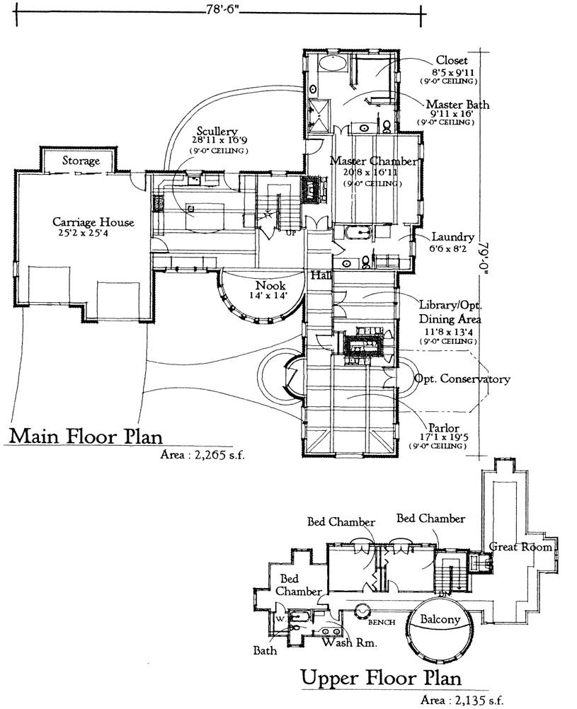 Storybook cottage plans home mansion Storybook cottages floor plans